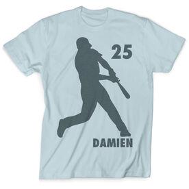 Vintage Baseball T-Shirt - Batter Silhouette