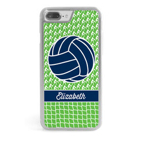Volleyball iPhone® Case - Player Net Pattern