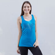 Crew Women's Athletic Tank Top - Crew Row Team Sketch