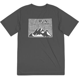 Men's Running Short Sleeve Tech Tee - Colorado State Runner