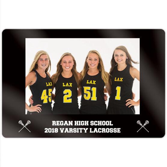 """Girls Lacrosse 18"""" X 12"""" Aluminum Room Sign - Team Photo"""