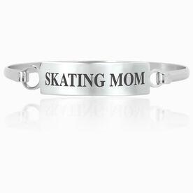 Figure Skating Engraved Clasp Bracelet - Mom (Text)