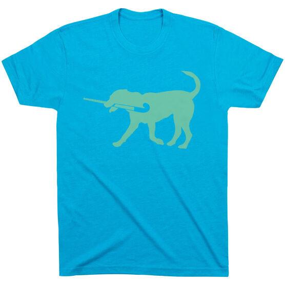 Field Hockey Tshirt Short Sleeve Flick The Field Hockey Dog