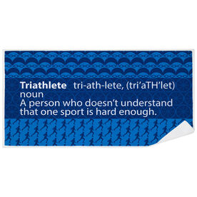 Triathlon Premium Beach Towel - Triathlete Definition
