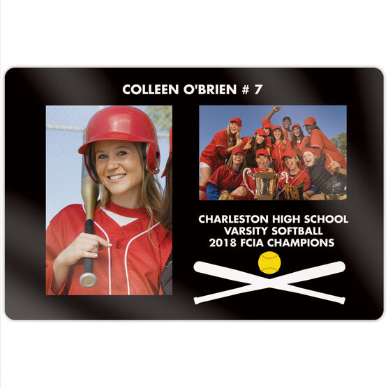 "Softball 18"" X 12"" Aluminum Room Sign - Player and Team Photo"