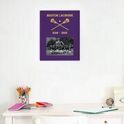Guys Lacrosse Photo Frame - Team