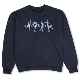 Figure Skating Crew Neck Sweatshirt - Skate with Silhouettes