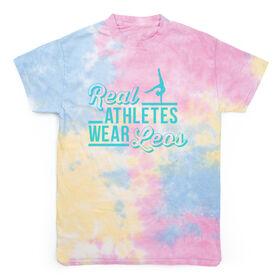 Gymnastics Short Sleeve T-Shirt - Real Athletes Wear Leos Tie Dye