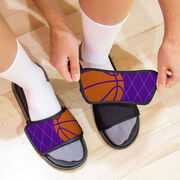 Basketball Repwell® Sandal Straps - Ball Reflected