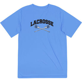 Guys Lacrosse Short Sleeve Performance Tee - Crossed Sticks