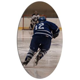Hockey Oval Car Magnet Your Photo