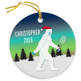 Tennis Porcelain Ornament Abominable Snowman