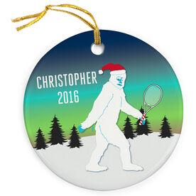 Tennis Porcelain Ornament Abominable Snowman
