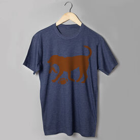 Football Tshirt Short Sleeve Flash The Football Dog