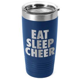 Cheerleading 20 oz. Double Insulated Tumbler - Eat Sleep Cheer