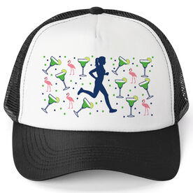 Running Trucker Hat - Margaritas Female Runner