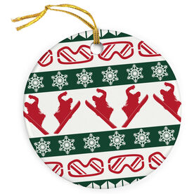 Snowboarding Porcelain Ornament Ugly Sweater