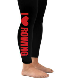 Crew Leggings I Heart Rowing