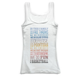 Basketball Vintage Fitted Tank Top - We Do Basketball