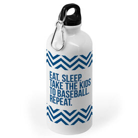 Baseball 20 oz. Stainless Steel Water Bottle - Eat Sleep Take The Kids To Baseball