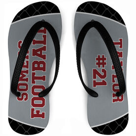 Football Flip Flops Personalized Team