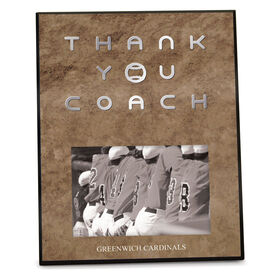 Baseball Photo Frame Thank You Coach