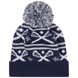 Lacrosse Knit Hat - Crossed Sticks