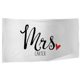 Personalized Beach Towel - Mrs.