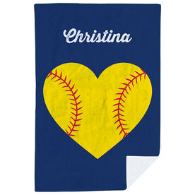 Softball Premium Blanket - Softball Player