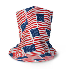 Baseball Multifunctional Headwear - American Flag Bats Pattern RokBAND