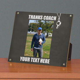 Coach Photo Display Frame Thanks Coach Whistle