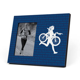 Triathlon Photo Frame - Swim Bike Run Repeat