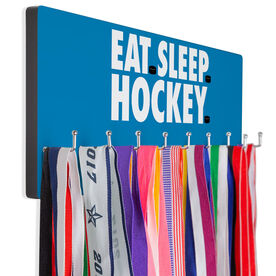 Hockey Hooked on Medals Hanger - Eat Sleep Hockey