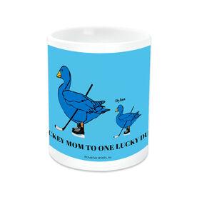 Hockey Coffee Mug Mom Lucky Ducks