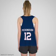 Field Hockey Racerback Pinnie - Pink Ghost with Stick