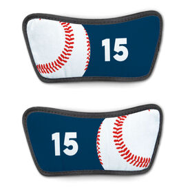 Baseball Repwell™ Sandal Straps - Ball and Number Reflected
