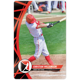"Baseball 18"" X 12"" Aluminum Room Sign - Player Photo With Logo"