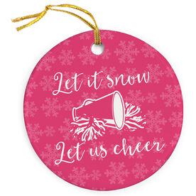 Cheerleading Porcelain Ornament Let It Snow Let Us Cheer