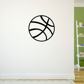 Basketball Ball Removable ChalkTalkGraphix Wall Decal