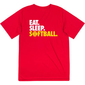 Softball Short Sleeve Performance Tee - Eat. Sleep. Softball.