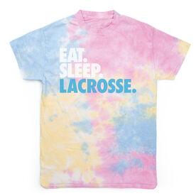 Lacrosse Short Sleeve T-Shirt - Eat. Sleep. Lacrosse Tie Dye