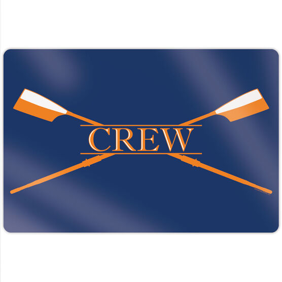 "Crew 18"" X 12"" Aluminum Room Sign - Crest"