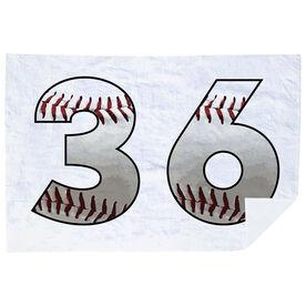Baseball Premium Blanket - Custom Baseball Numbers