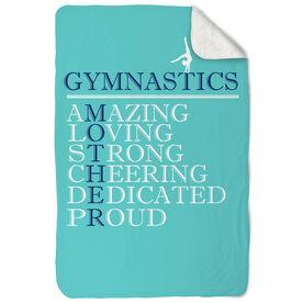 Gymnastics Sherpa Fleece Blanket - Mother Words (Girl Gymnast)