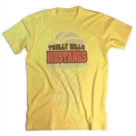 Vintage Basketball T-Shirt - Your Logo