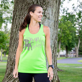 Women's Racerback Performance Tank Top - Will Run For Treats