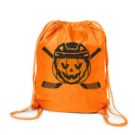 Hockey Sport Pack Cinch Sack - Helmet Pumpkin
