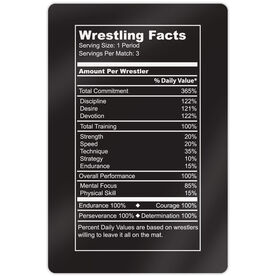 "Wrestling Aluminum Room Sign (18""x12"") Wrestling Facts"