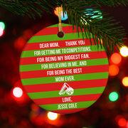 Cheerleading Porcelain Ornament - Dear Mom Heart