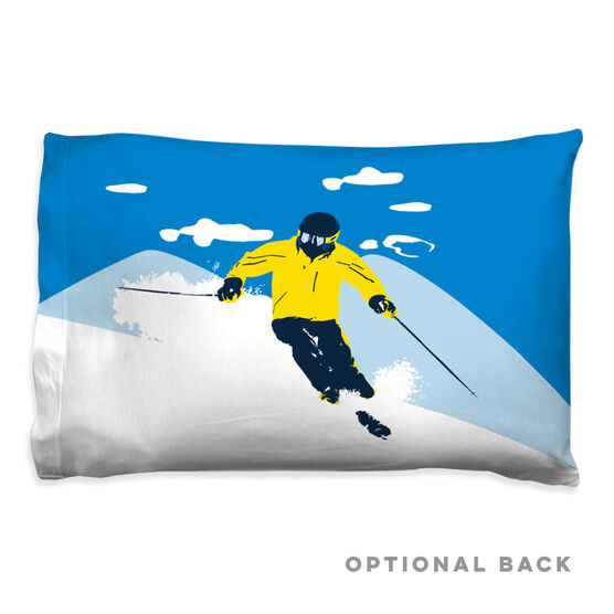 Skiing Pillowcase - Ski Hard